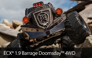 ECX 1.9 4WD Barrage Doomsday Brushed RTR