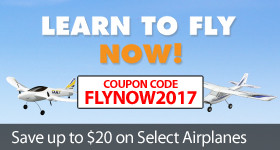 Learn to fly now save on select RC Airplanes