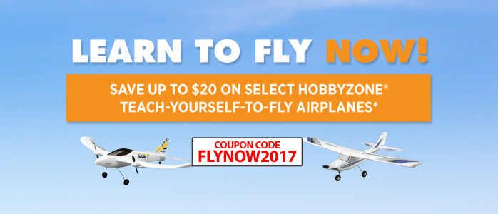 Save up to $20 on select HobbyZone Beginner Teach-yourself-to-fly RC Airplanes