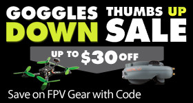 Save off select FPV aircraft headsets and goggles