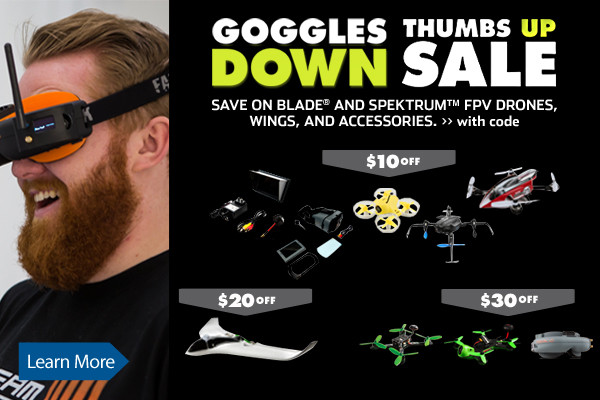 Save up to $30 on select FPV Drones, Wings, and Accessories