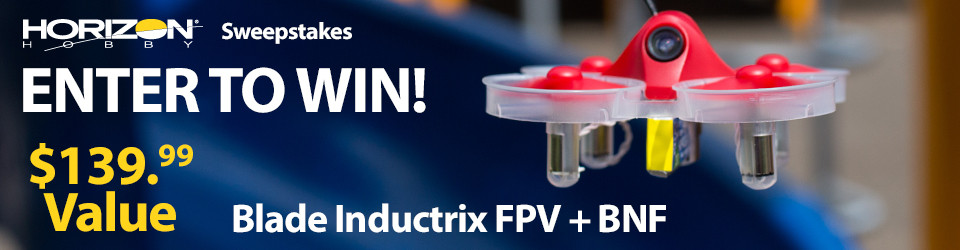 Horizon Hobby RC Sweepstakes! Win an Inductrix FPV Plus BNF!