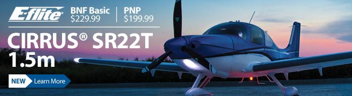 E-flite Cirrus SR22T Park Flyer Scale Civilian RC Airplane