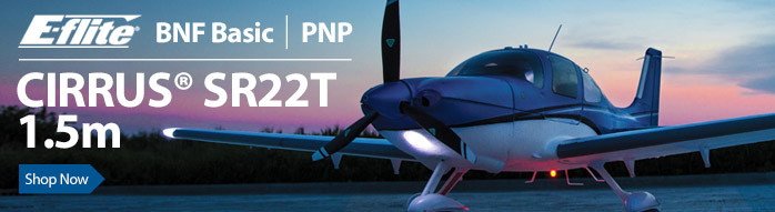 E-flite Cirrus SR22T 1.5m BNF Basic and PNP Scale Civilian Airplane