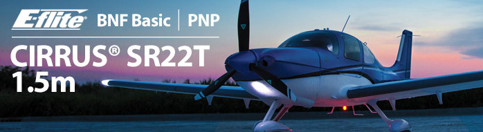 E-flite Cirrus SR22T 1.5m Scale Civilian Classic RC Airplane