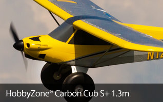 HobbyZone Carbon Cub S+ 1.3m Scale Civilian Beginner Teach Yourself to Fly Trainer Airplane with SAFE Plus Technology