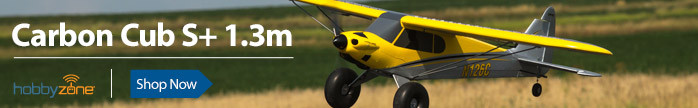 HobbyZone Carbon Cub S+ 1.3m Beginner Scale High-Wing RC Airplane with SAFE Plus Technology