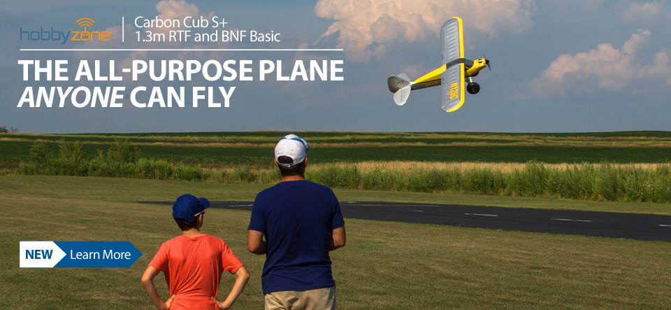 HobbyZone Carbon Cub S+ 1.3m Beginner RC Airplane with SAFE Plus Technology
