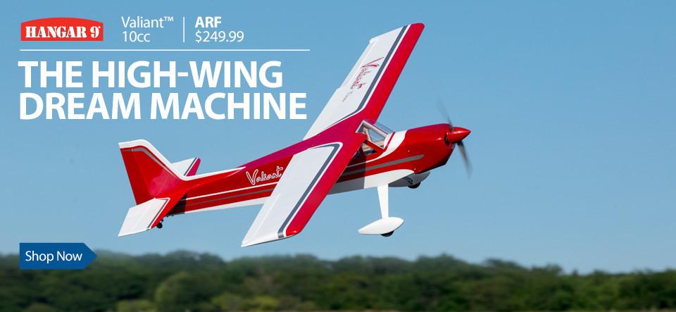 Hangar 9 Valiant 10cc ARF 69-inch RC Sport Airplane