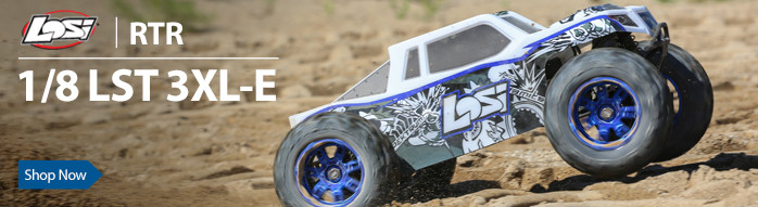 Losi 1/8 LST 3XL-E 4WD Monster Truck Brushless RTR with AVC