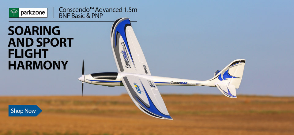 ParkZone Conscendo Advanced 1.5m BNF Basic and PNP Powered RC Glider Sailplane