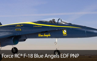 Force RC F-18 Blue Angels PNP, 64mm EDF RC Jet Airplane