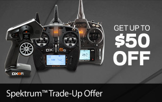Get up to $50 off Spektrum Transmitters through the Spektrum Trade-Up Offer