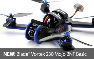New! Blade Vortex 230 Mojo BNF Basic FPV Race Quadcopter