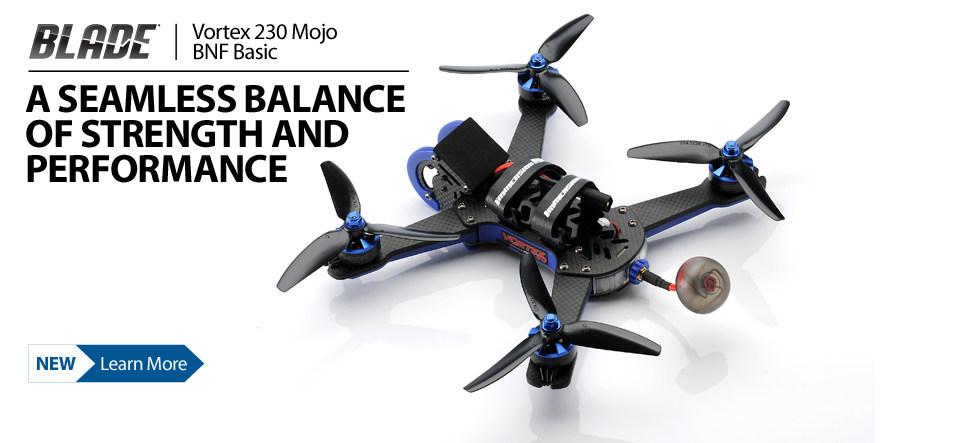 Blade Vortex 230 Mojo BNF Basic FPV Race Quadcopter