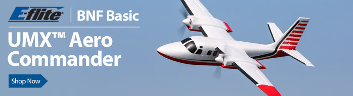 E-flite UMX Aero Commander BNF Basic with AS3X Technology Ultra Micro Scale Twin-Engine Civilian RC Airplane