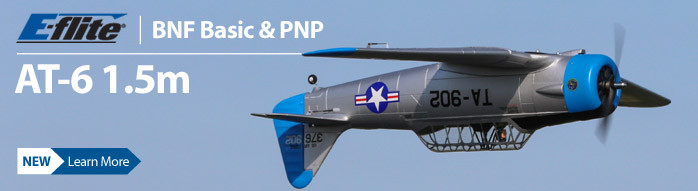New! E-flite AT-6 Texan 1.5m BNF Basic and PNP