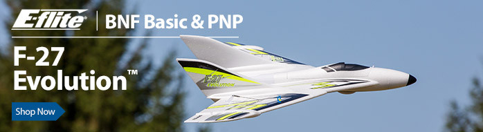 E-flite F-27 Evolution Flying Wing RC Airplane