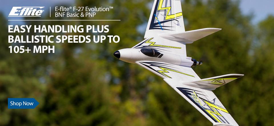 E-flite F-27 Evolution BNF Basic and PNP