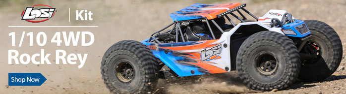Hit the rocks and trails in-style in the Losi Rock Rey Kit