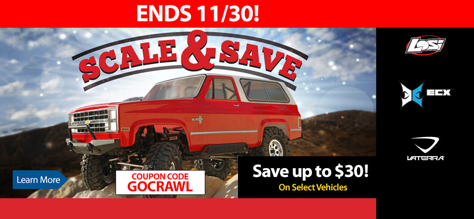 Blaze New Trails for Less and Save up to $30 In our Scale and Save Sale