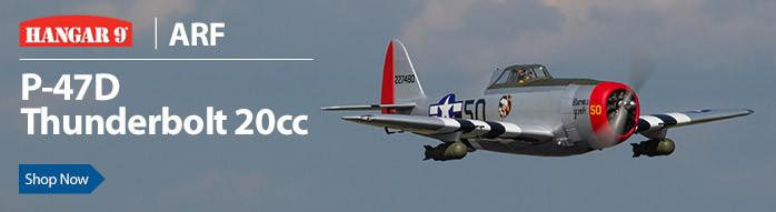 Hangar 9 P-47D Thunderbolt 20cc ARF RC Warbird