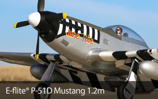 E-flite P-51D Mustang 1.2m Scale Warbird Airplane
