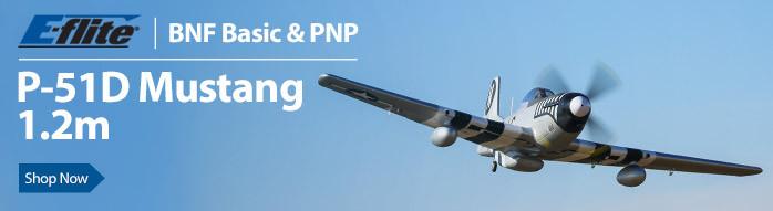 E-flite P-51D Mustang 1.2m PNP