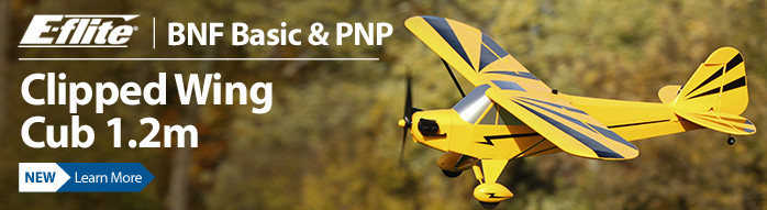 The E-flite Clipped Wing Cub 1.2m park flyer captures the essence of the classic variant with inspiring versatility only possible with durable construction, abundant scale detail and state-of-the-art electronics such as SAFE Select flight assistance.