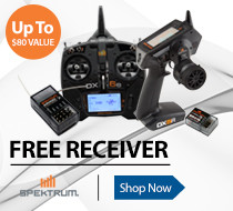 Get a free receiver with purchase of select Spektrum RC Transmitters