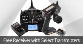 For a limited time get a free receiver with select Spektrum Transmitter purchases