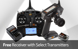 Get a FREE Receiver with select Spektrum Transmitters