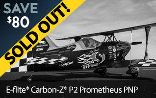 Save $80 on the E-flite Carbon-Z P2 Prometheus PNP