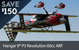 Save $150 on the Hangar 9 P3 Revolution 60cc ARF