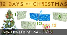 12 Days of Christmas - New deals opened daily through December 15