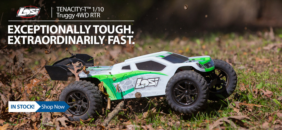 The Losi TENACITY-T RTR is one tough truggy, delivering fun, speed and performance.