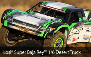 Pre-order the Losi Super Baja Ray 1-6 scale Performance Driven Large Scale Short Course Truck