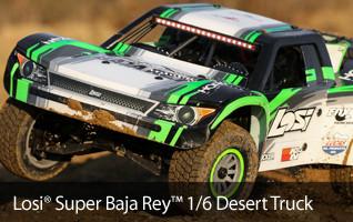Losi 1/6 Super Baja Rey 4WD Electric Desert Truck