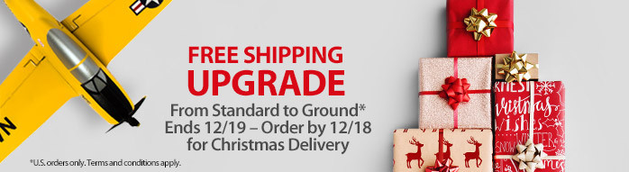Get a free shipping upgrade from standard to ground through December 19