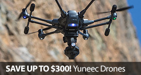 Save up to $300 on select Yuneec Camera Drones