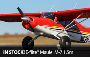 E-flite Maule M-7 1.5m BNF Basic and PNP Scale Civilian RC Airplane
