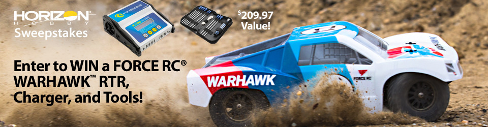 Horizon Hobby RC Sweepstakes! Enter to win a Force RC 1/10 Warhawk 4WD Short Course Truck Prize Package