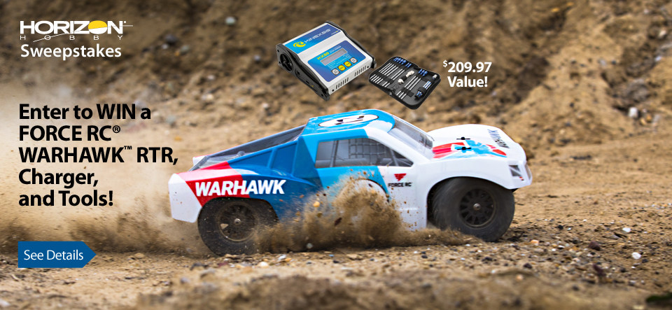The Force RC 1/10-Scale Warhawk 4WD electric short course truck comes well-equipped to drive right out of the box. With race-inspired graphics and a durable chassis you�re sure to have a blast.