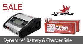 Save off select Dynamite Battery Packs and Chargers thru January 22!