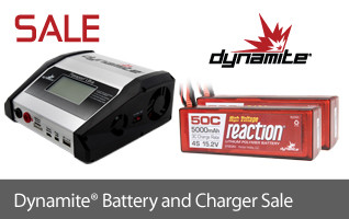 Save off select Dynamite Battery Packs and Chargers thru 1/22!