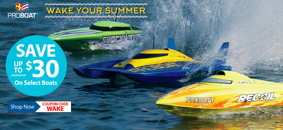 Save up to $30 on Select Pro Boat models, through May 31