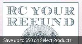 We help you get more from your tax refund with our RC Your Refund sale!