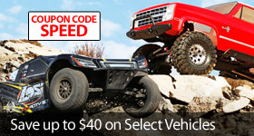 Save $40 off select Losi and Vaterra vehicles