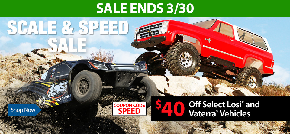 Save up to $40 on Select Losi and Vaterra RC vehicles, through March 30