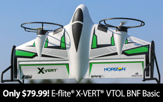 New low price - Get the E-flite X-VERT VTOL BNF Basic for only $79.99